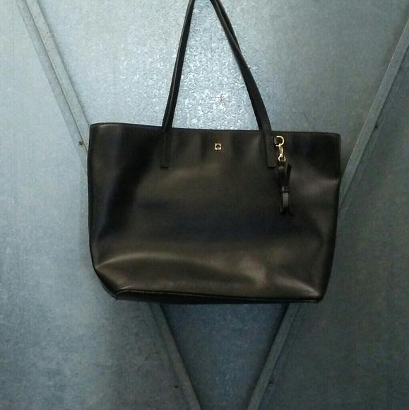 830e2d4a37ab kate spade Handbags - Authentic Kate Spade Vintage Black Leather Tote
